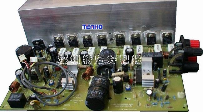 """本品纯属本公司自主研制的中高端的音响功放产品,主要用于KTV房、音乐厅等娱乐场所和HI-FI爱好者。首创应用了自主专利的EECM节能技术。兼容AV功放与HI-FI功放的特性,整机的电路实现了数字化控制,后级也采用数字電路输出。本着""""以更低的成本创造更优的产品""""的理念,我方将陆续推出更经济实用、更高端的数字类产品。目前本品的第三代已完成设计的改良工作。"""